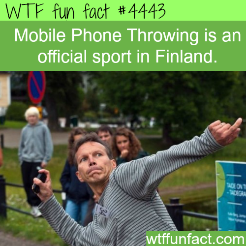 Finland's mobile throwing sport -   WTF fun facts