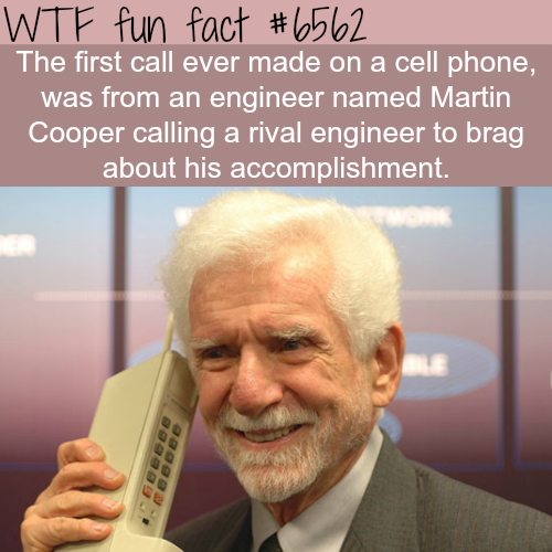 First call from a cell phone - WTF fun facts