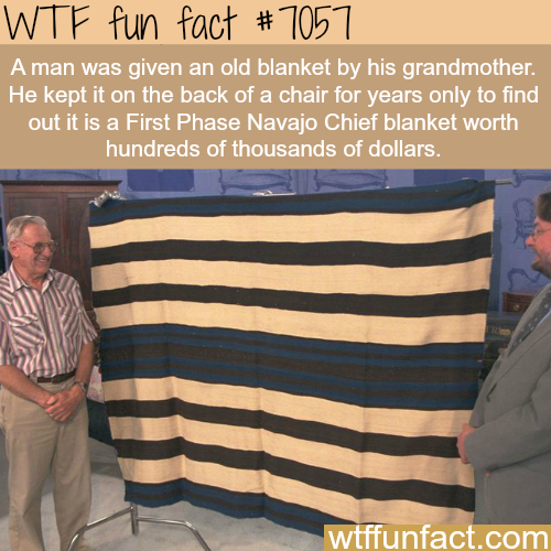 First Phase Navajo Chief blanket - WTF fun facts