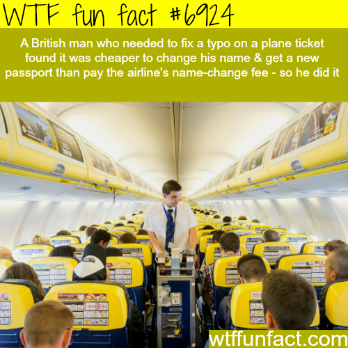 Fixing a typo on a plane ticket - WTF fun fact