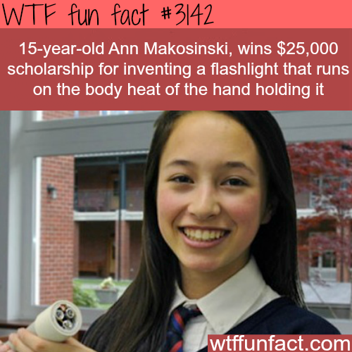 Flashlight that runs on the body heat of the human body -  WTF fun facts