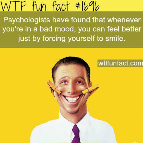 Forcing yourself to smile (psychological study) - WTF fun facts