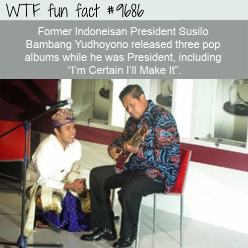 Former Indoneisan President Susilo Bambang Yudhoyono released three pop albums while he was President