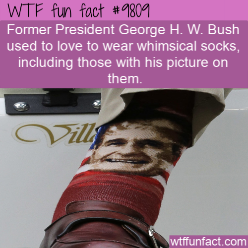 Former President George H. W. Bush used to love to wear whimsical socks