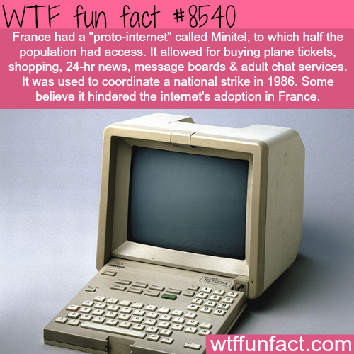 France had 'internet' before the internet - WTF fun facts