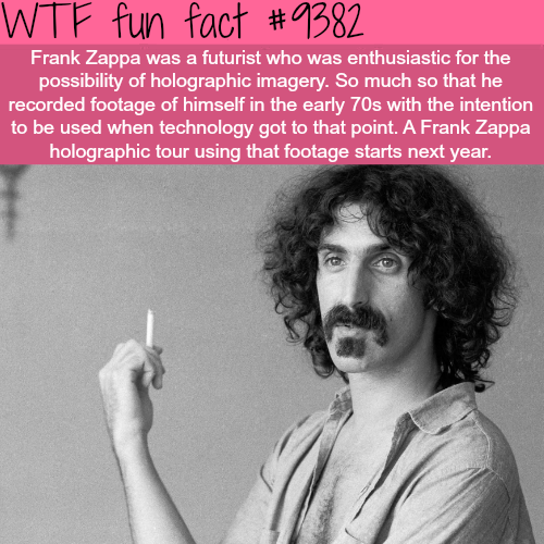 Frank Zappa Holographic Tour - WTF fun facts