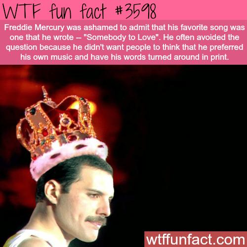 Freddie Mercury's favorites song - WTF fun facts