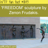 freedom sculpture by zenon fraduakis