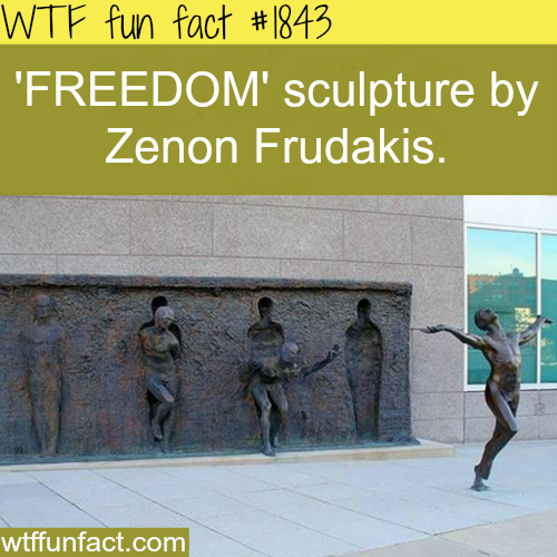 """Freedom"" Sculpture by Zenon Fraduakis -WTF fun facts"