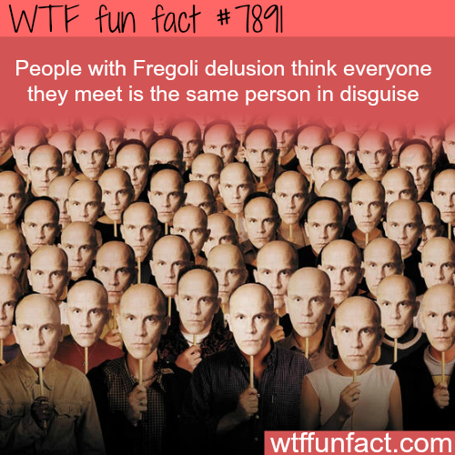 Fregoli Delusion - WTF fun facts