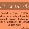 french exit wtf fun fact