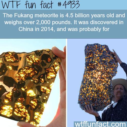 Fukang Meteorite - WTF fun facts