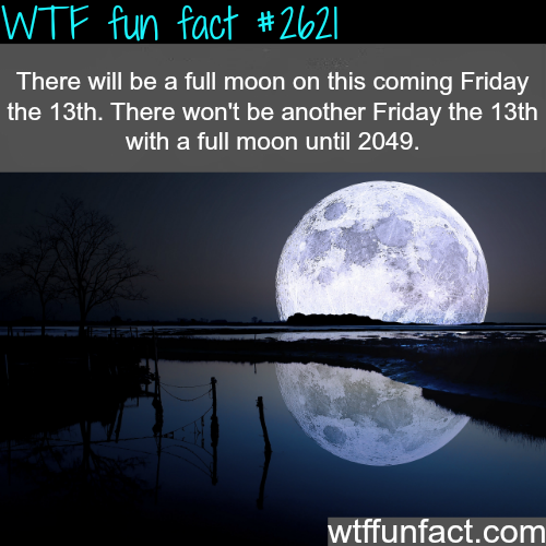 Full Moon this Friday the 13th - WTF fun facts