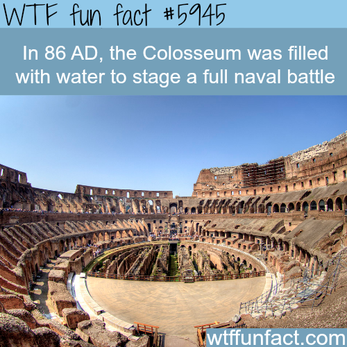 Full naval battle in the Colosseum - WTF fun facts