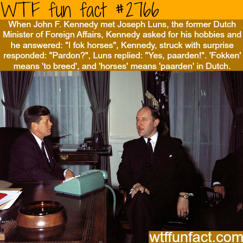 Funniest conversation with John F. Kennedy -WTF fun facts