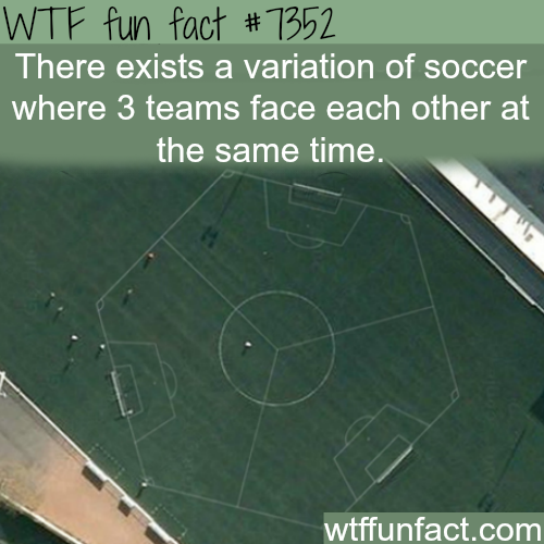 Game of soccer where three teams face each other - WTF fun facts