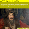 genghis khan cause of death wtf fun facts