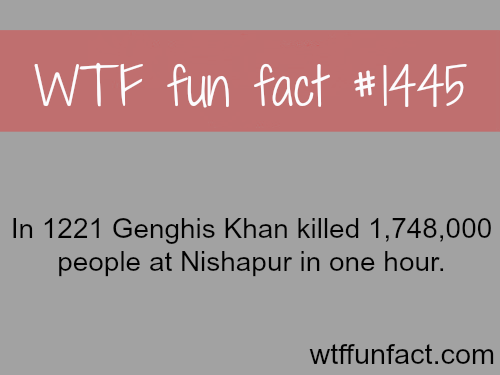 Did Genghis khan kill 1 million people in one hour?