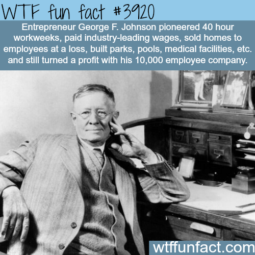 George F. Johnson - WTF fun facts