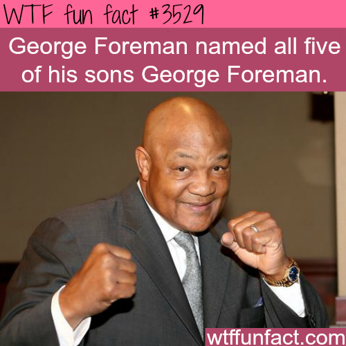 George Foreman sons - WTF fun facts