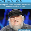 george rr martin bought the first ticket to comic con
