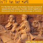 georgia once banned all lawyers wtf fun facts