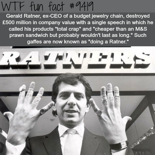 Gerald Ratner - WTF fun fact