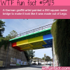 german artist painted a bridge too look like its