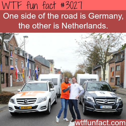 Germany and the Netherlands borders -  WTF fun facts