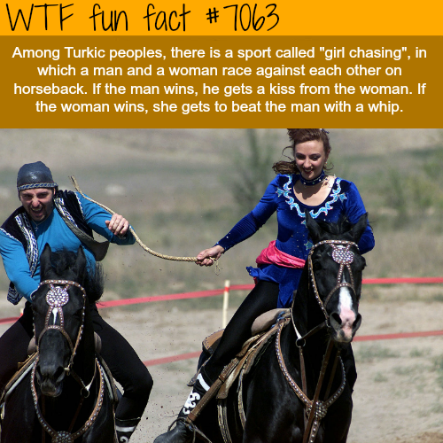 Girl chasing - WTF fun facts