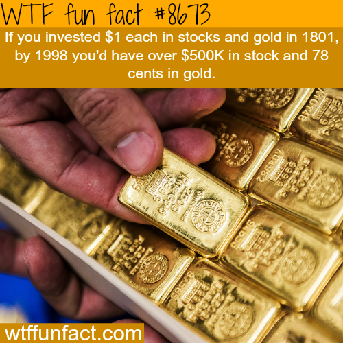 Gold vs Stocks - WTF fun facts
