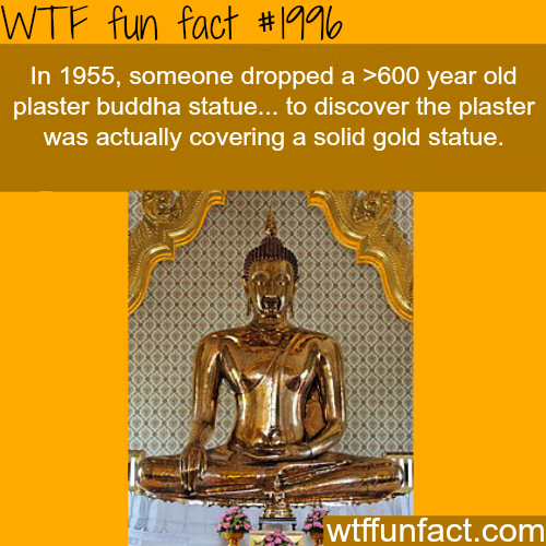 Goldent Buddha statue -WTF fun facts