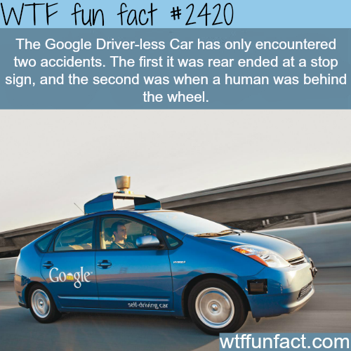 Google Driver-less Car - WTF fun facts