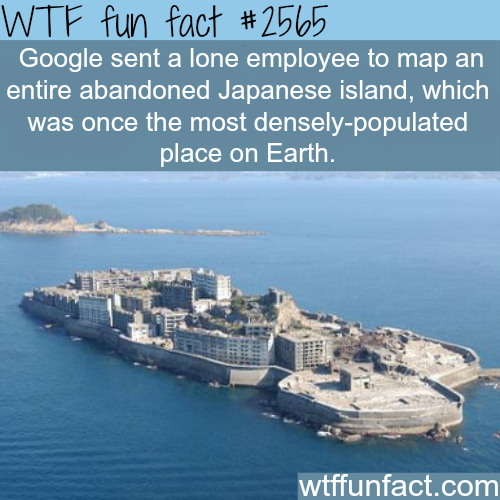 Google maps Hashima island -WTF funfacts