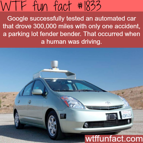 Google's self driving car - WTF fun facts