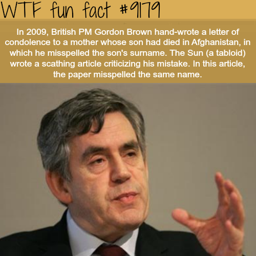 Gordon Brown - WTF Fun Facts