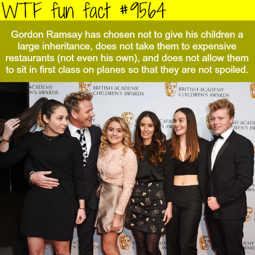 Gordon Ramsay won't give his children a large inheritance - WTF fun fact