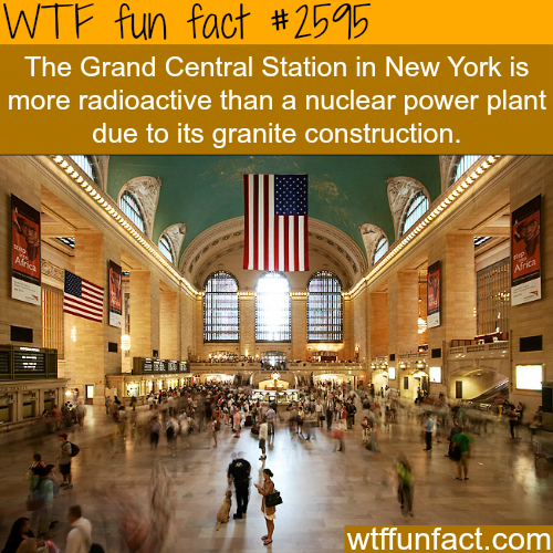 Grand Central Station Radioactivity -WTF funfacts