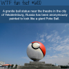 granite ball in russia is painted like a poke ball
