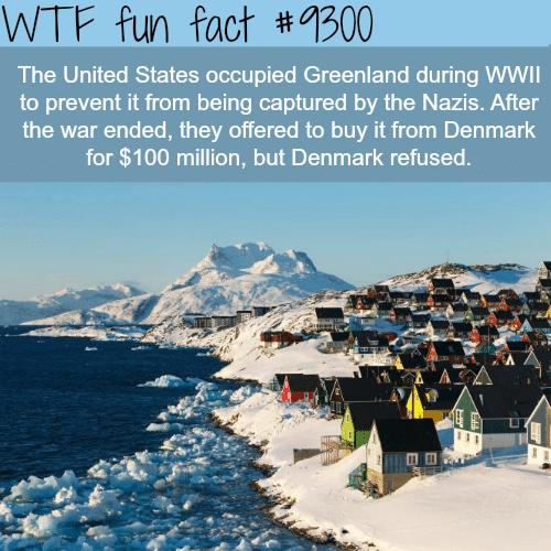 Greenland - WTF fun fact