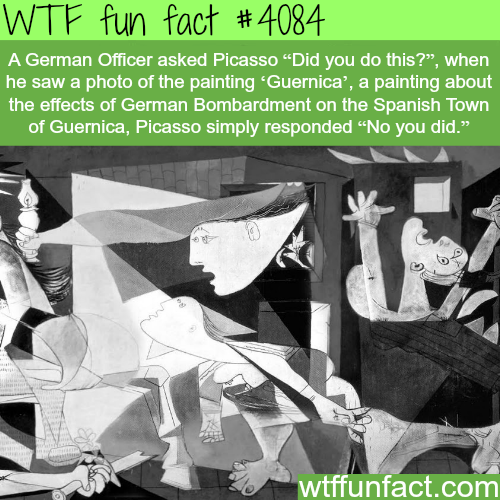 Guernica painting by Picasso - WTF fun facts