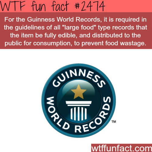 Guinness World Of Records - WTF fun facts