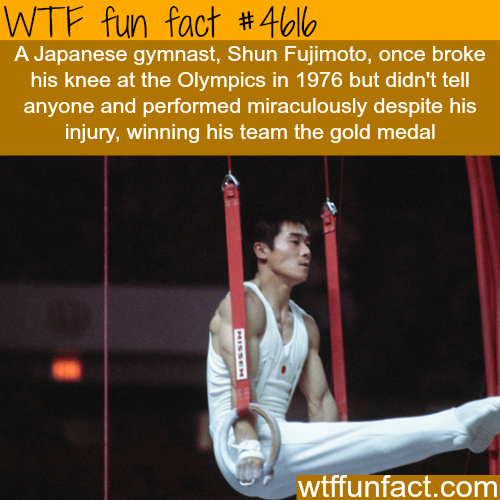 Gymnast breaks his knee and wins a gold medal at the Olympics - WTF fun facts