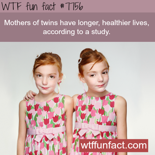Having twins can make you live longer and healthier - WTF fun fact