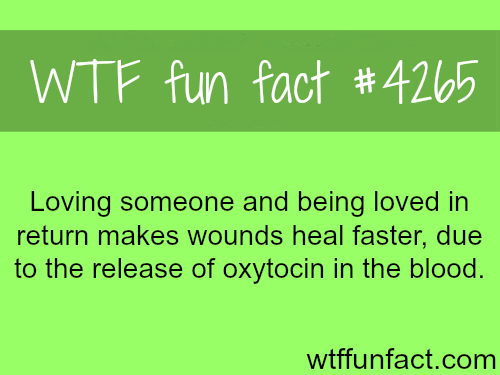 Healing wounds faster -  WTF fun facts