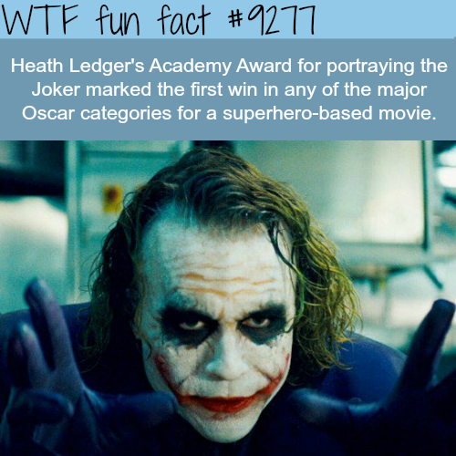 Heath Ledger as the Joker - WTF fun fact