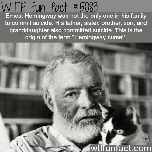 Hemingway curse - WTF fun facts
