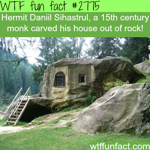 Hermit Daniil Sihastrul Stone House - WTF fun facts
