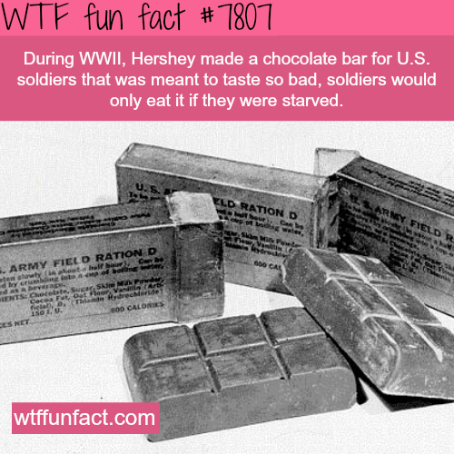 Hershey Chocolate bar rations - WTF fun facts