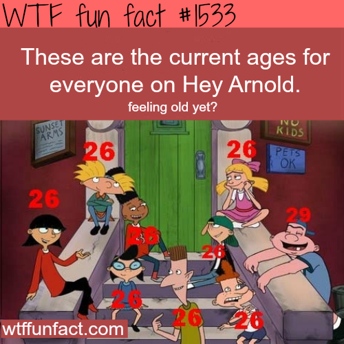 the age fo everyone on HeyArnold .wtf fun facts